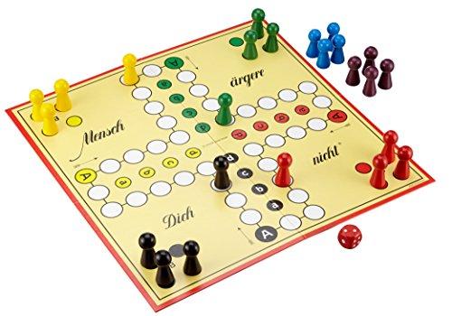 Schmidt-Spiele-49085-Classic-Line-Mensch-rgere-Dich-nicht-mit-extragroen-Spielfiguren