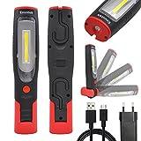 Akku 3W COB LED Arbeitsleuchte Aufladbare LED Taschenlampe Handlampe Inspektionslampe, Hohe...