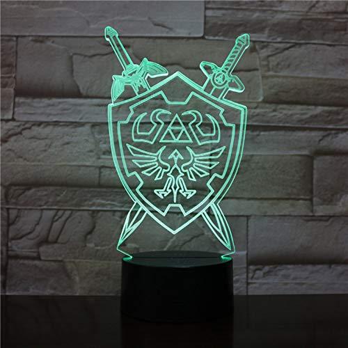 Luces noche 3D La leyenda Zelda Lámpara mesa Juego