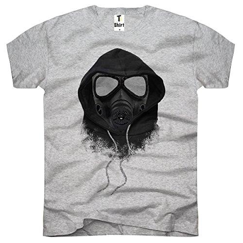 TEE-Shirt, Men T-Shirt Gas-Maske Size XXXL,Grau -