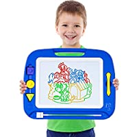 SGILE Large Magnetic Drawing Board - 41.5×32.5 cm Erasable Scribble Board Colorful Magna Doodles Writing Pad Learning toys for Kids Children Toddlers,Blue