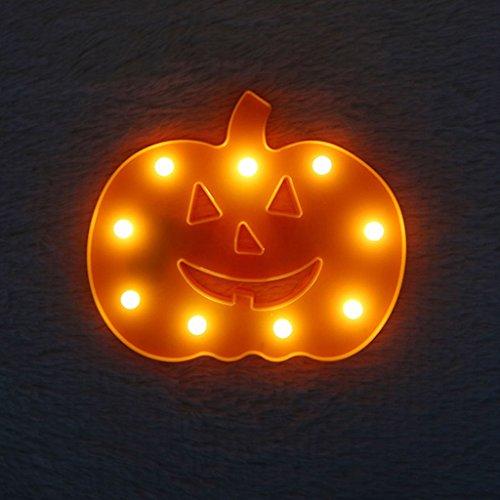 SM SunniMix 1 Stü Ersatz Kürbis Förmig LED Lampe, Zubehör Für Halloween Und Weihnachten Orange -
