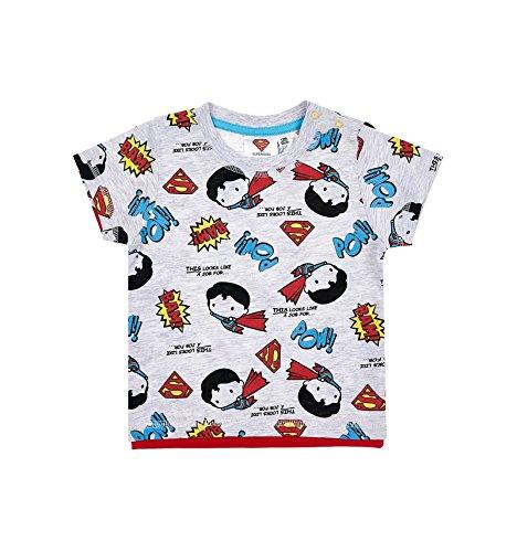 Superman - Camiseta - para bebé niño Gris 12 Meses