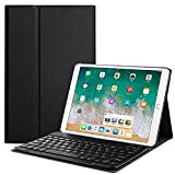New iPad 2017 9.7' Keyboard Case, PBELE Smart Case Protective Cover with Detachable Keyboard For iPad Air,iPad Air 2, Apple 2017 New iPad 9.7 (Black)