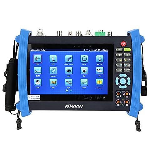KKmoon 7 inch CCTV IP Camera Tester Onvif IP Camera Tester Touch Screen Monitor AHD/SDI/TVI/CVI HDMI 1080P/PTZ/POE/WIFI/DMM/TDR/Cable Tracer/Optical Power Meter/Visual Fault Locator IPC-8600MOVTSADH