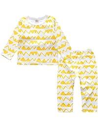 Chickwin Conjuntos de Pijama para Bebés Niños Niña, Unisex Manga Larga Top Pantalones de Pijamas