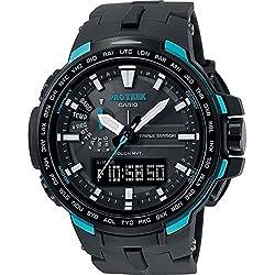 Casio Reloj Analógico/Digital Con Energía Solar para Hombre con Correa de Fibra De Carbono – PRW-6100Y-1AER