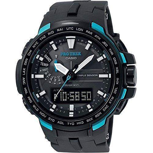 Casio Herren MultiZifferblatt Solarbetrieben mit Kohlenfaser Armbanduhr PRW6100Y1AER