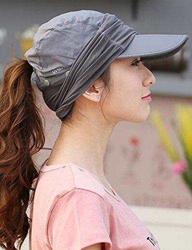 Chapeau de soleil d'été Été féminin de plein air chapeau de soleil Anti-UV Couvrez le visage Pliable chapeau de soleil Pour les voyages de plage sortants ( Couleur : 6 ) 8