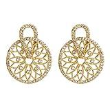 ELETIST Ohrringe für Damen, Damen Gold Ohrringe Hängend,Weihnachtsgeschenke,Nickelfrei Damen Ohrringe mit 925 Silber Stecker