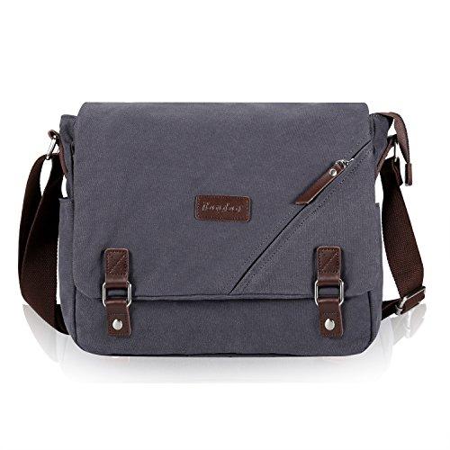 Umhängetasche, ibagbar Messenger Bag Tasche Herren Schultertasche Laptop Tasche für 14'' Laptop