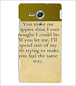 PrintDhaba Quote D-4718 Back Case Cover for SONY XPERIA SP (Multi-Coloured)