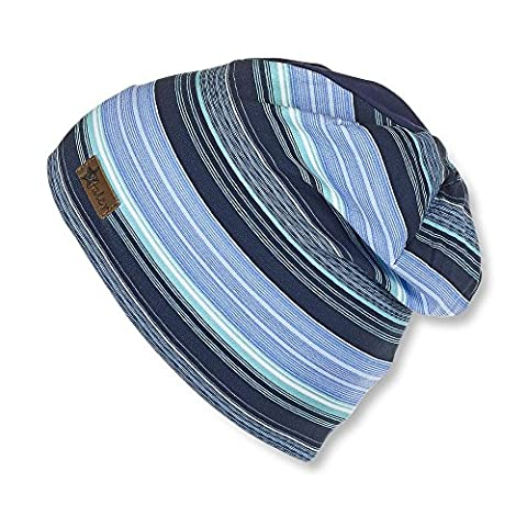Sterntaler - Sterntaler Boys Beanie blue-green striped - 1521705 - 51blau