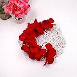 Youlala Fashion Hortensie Party Romantische Hochzeit Dekorative Seide + Kunststoff Blumen Seide Wisteria Home Dekoration, Dunkelrot, 1#