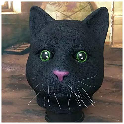 Maske Latex Kopfbedeckung Maskerade Lustige Requisiten (Color : Black) ()