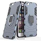 Cocomii Black Panther Armor iPhone 6S Plus/6 Plus Funda [Robusto] Anillo Metálico Soporte [Funciona con El Montaje De Coche Magnético] Case Carcasa for Apple iPhone 6S Plus/6 Plus (B.Black)