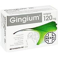Gingium intens 120 mg, 60 St. Filmtabletten preisvergleich bei billige-tabletten.eu