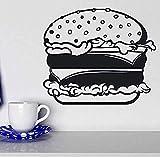 Carta da parati murale rimovibile per hamburger con formaggio al formaggio Insalata murale Vinile 49 * 42 cm