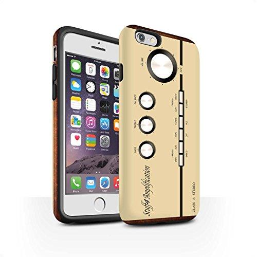 Coque Matte Robuste Antichoc de STUFF4 / Coque pour Apple iPhone 8 / Compact Cassette Audio Design / Retro Tech Collection Amp/Amplificateur