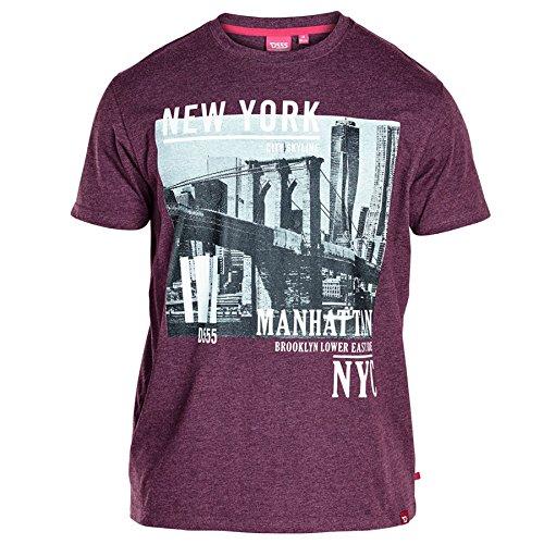 Duke London Herren T-Shirt * Einheitsgröße burgunderfarben