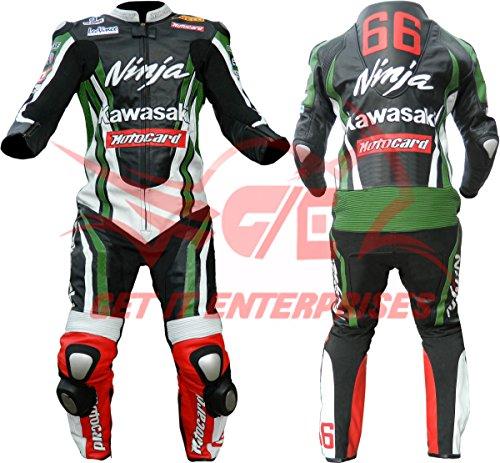 Kawasaki Ninja moto piel traje moto Dainese Alpinestars Tailor Made fabricada a...