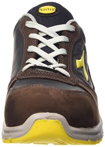 Diadora  Run Low S3 Src, Chaussures de sécurité mixte adulte Marron (Marrone Scuro/blu Maiolica)