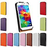 Gamsy Genuine Leather Case for Samsung GALAXY Note 4 Sport Gym Up-Down Open Pouch Cover Holder Wallet Flip Case-White