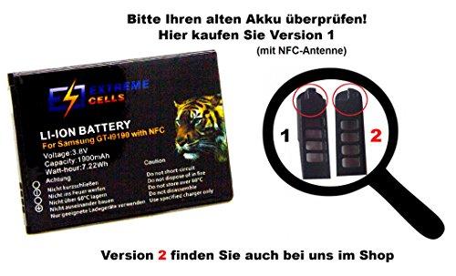 Extremecells Akku mit NFC Antenne Samsung Galaxy S4 mini GT-i9190 i9195