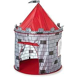 Inside Out Toys - Tente en Forme de château Fort - Jouet pour Enfant - Rouge/Noir