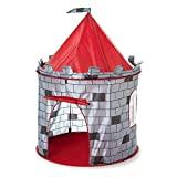 Inside Out Toys - Spielzelt für Kinder - Ritterburg-Motiv - Rot / Grau - 35,8 cm