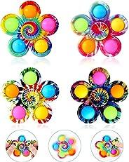 AioTio Pop Fidget Spinner Toys 4 Pack,Simple Dimple Fidget Toy,Pop Bubble Sensory Toys Set for Kids