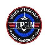 Die US Navy Top Gun F14TOMCAT Fighter Weapons School Patch   Stickerei Hohe Qualität Eisen auf Sew auf Patch Abzeichen für Kleidung Jacken T-Shirts Mäntel Taschen Hüte Geldbeutel