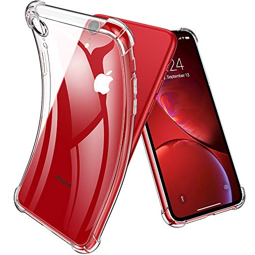 Joyguard iPhone XR Hülle, iPhone XR Handyhülle Leicht TPU Durchsichtig Weiche Silikon Stoßfest Plating Überzug Schutz Bumper Schutzhülle für iPhone XR - Transparent