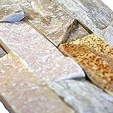 Brickstones, Wandverblender, Mauerverblender Naturstein 15x60 cm Schiefer beige bunt, MOES59, 1 Kart. = 0,50 qm