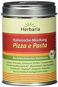 """Herbaria """"Pizza e Pasta"""" italienische Mischung, 1er Pack (1 x 100 g Dose) - Bio"""