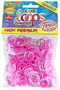 CRAZE Loops 51086 - Juego de 300 Anillos de Silicona para Pulsera, Bandas de Goma