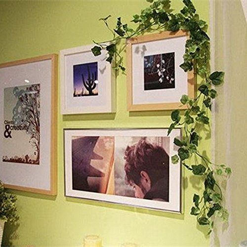 youpin 1Ivy Leaf Künstliche Kunststoff Garland Pflanzen Vine 237,7cm Fake Blattwerk Home Decor Garten Dekoration (Ivy Cutter Leaf)