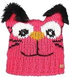Nordbron7341 Tuiya Lustige Mütze aus hochwertigem Garn. Katzen-Design mit Ohren aus Kunstfell. Fleece-Lining hält Kopf und Ohren warm.Rosa (c034 raspberry), 53-55cm