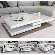 Amazon.fr : table basse laque blanc