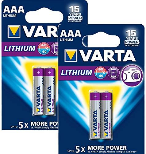 Varta Professional Lithium AA Batterie (1,5V, 1100mAh 4-er Blister)