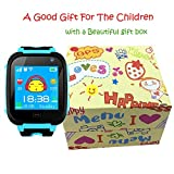 3,7cm GPS Tracker Smart Watch Phone per bambini con pedometro telecamera SIM chiamate SOS anti-perso intelligente bracciale Smartwatch per monitor di sicurezza per bambini, ragazzi regali di compleanno vacanza