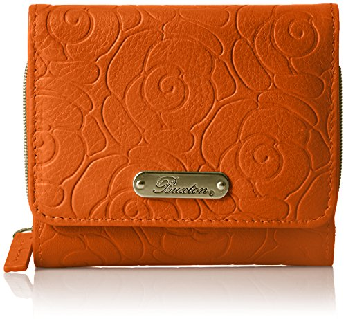 Buxton Women's Rose Garden Accordion Zip French