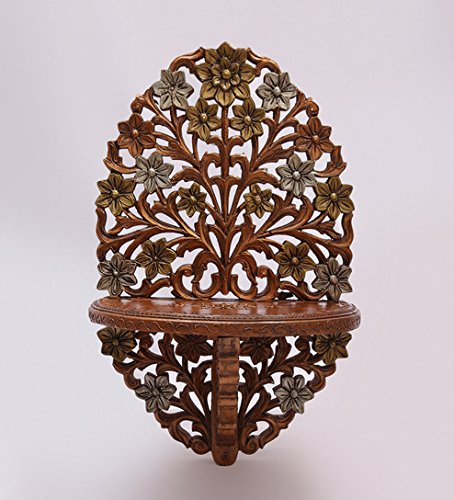 Aarsun Wooden Decorative Corner Wall Hanging Bracket Shelf / Wooden Gift Item