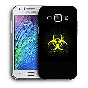 Snoogg Biohazard Designer Protective Back Case Cover For Samsung Galaxy J1