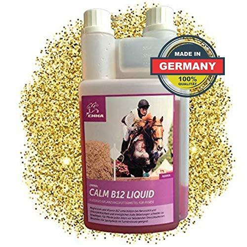 EMMA Magnesium Vitamin B12 fürs Pferd - Pferdefutter I Ergänzungsfutter für die Nerven, bei Stress, L-Tryptophan I Beruhigung 1 L