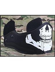 paintball caza máscaras casco armadura media cara máscaras cráneo