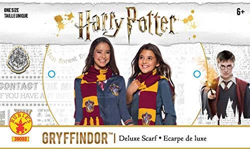 51r20ouuxCL - Harry Potter Deluxe Bufanda Gryffindor, Multicolor, (Rubie'S 39033)