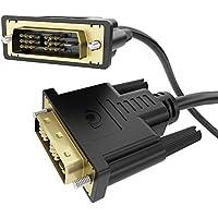 delightable24 5m Cavo DVI / DVI - Contatti placcati oro 24k - Risoluzione Full HD fino a 1080p per Monitor, PC, Notebook, Televisori (LCD/Plasma/TFT) e Proiettori - 5 Metro
