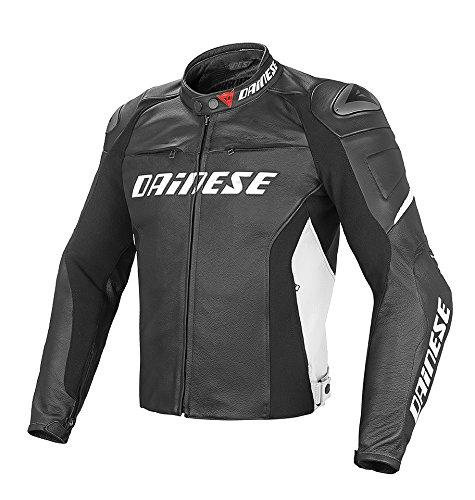 Dainese-racing d1 giacca da moto in pelle, nero/nero/bianco, taglia 52