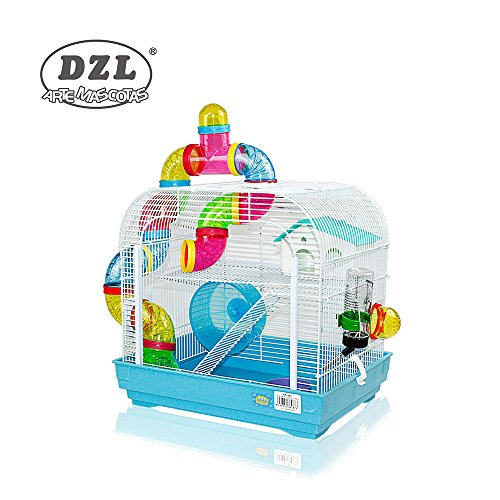 DZL jaula para hamster29.5X29.5X38CM) color azul,purpura y rojo indica color...